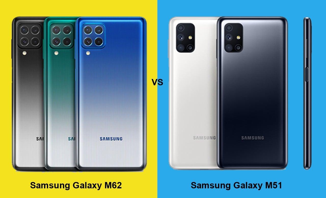 Samsung Galaxy M62 vs Galaxy M51