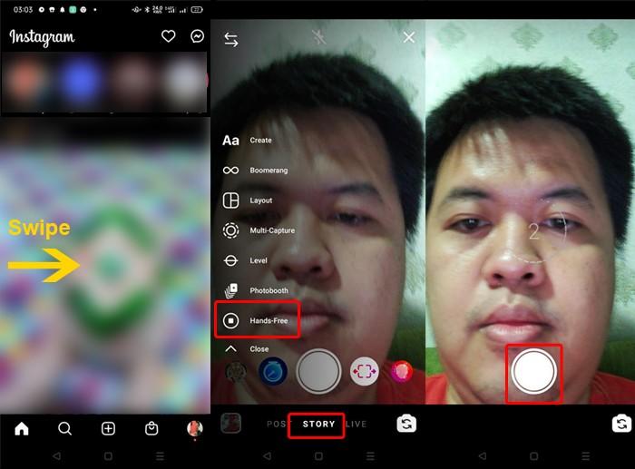 Cara Mengaktifkan Hands-Free untuk Selfie Timer