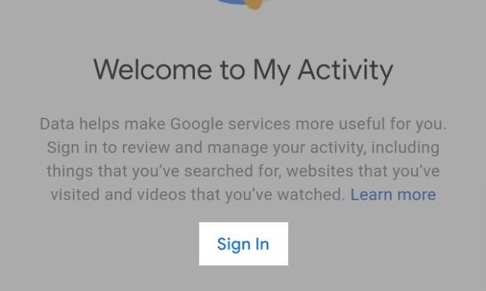 Sembunyikan Aktivitas Google 1
