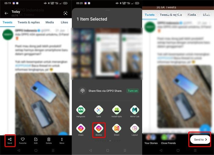 Share Tweet ke Instagram Stories Android