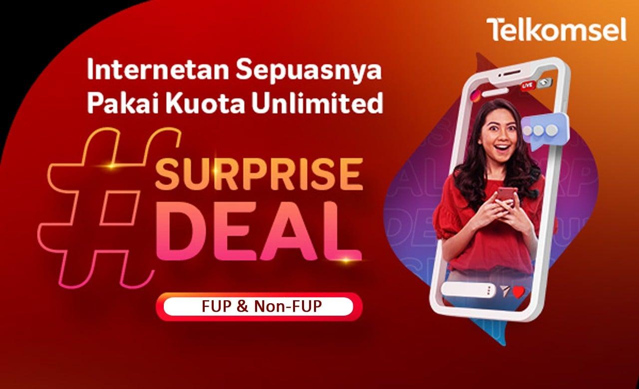 Paket FUP Telkomsel di Surprise Deal