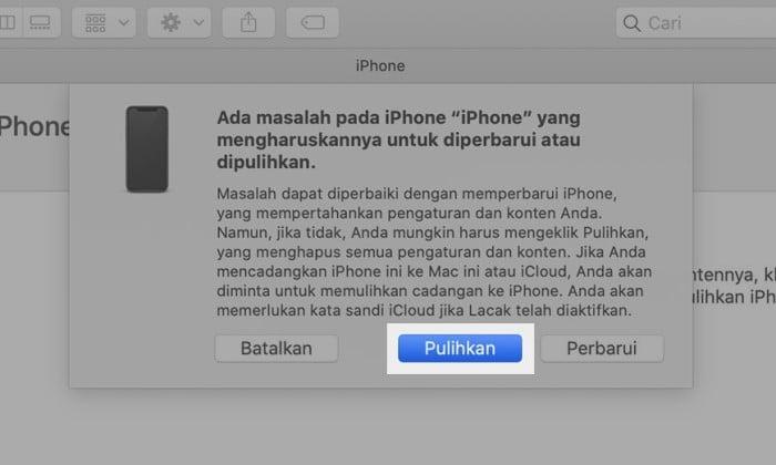 iPhone Dinonaktifkan Sambungkan ke iTunes 1