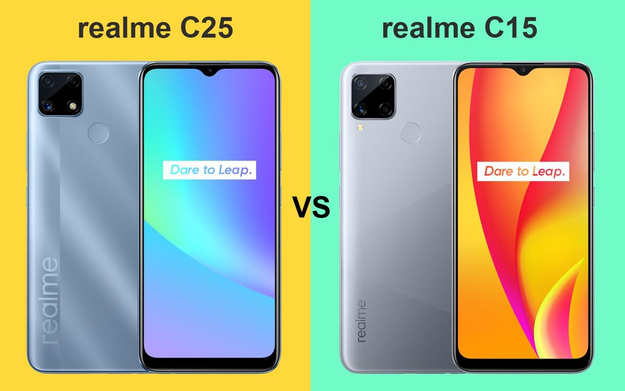 realme C25 vs realme C15