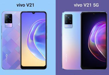 vivo V21 vs V21 5G