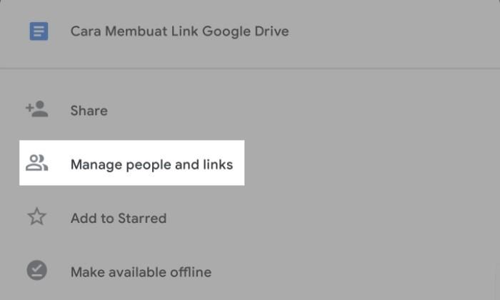 Cara Membuat Link Google Drive Untuk Dibagikan - 2