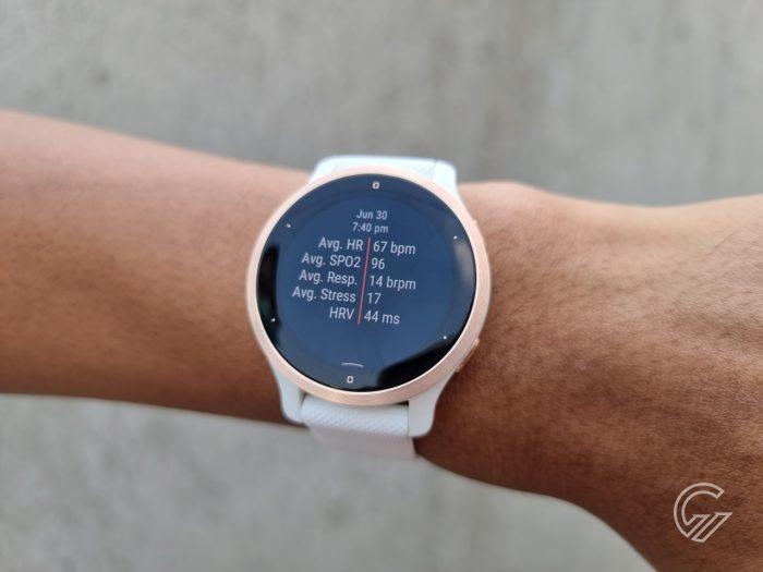 Garmin Venu 2S - Health Snapshot