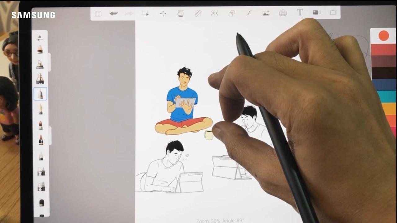 Hari-Prasetiyo-Ilustrator-Gunakan-Samsung-Galaxy-Tab-S7-FE-5G