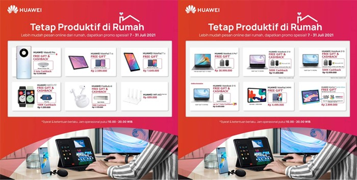 Huawei Tetap Produktif dari Rumah Brosur