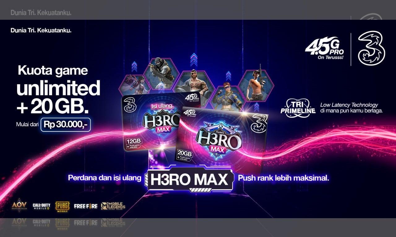 Paket Game Tri Unlimited H3RO Max Header