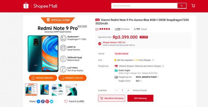 Redmi Note 9 Pro Mi Sale