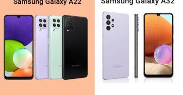 Samsung Galaxy A22 vs Galaxy A32