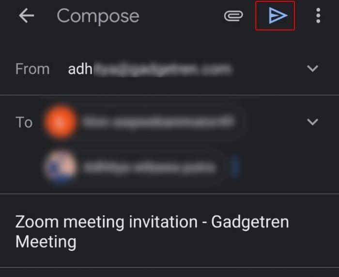Schedule Zoom Meeting Handphone Invitation