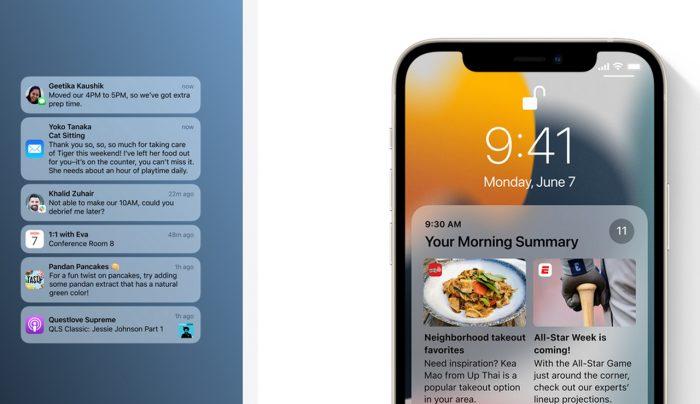iOS 15 Notification
