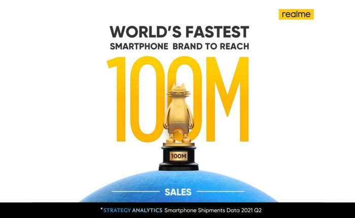 100 juta unit realme secara global