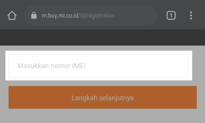 Cara Cek Garansi Xiaomi - Halaman Pengecekan