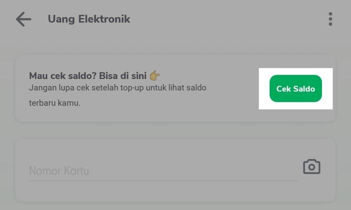 Cara Cek Saldo e-money di Handphone - 3