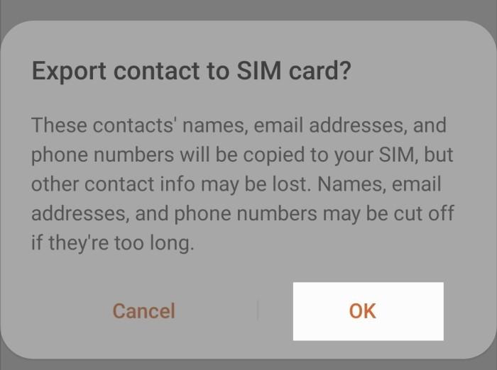 Cara Menyalin Kontak ke Kartu SIM di Handphone Samsung - 7