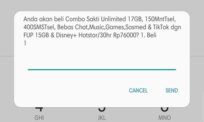 Cara Paketin Pulsa Jadi Kuota Internet Telkomsel - 3