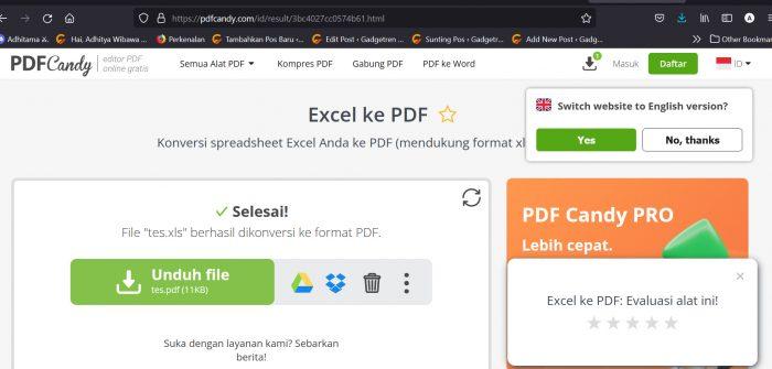 Convert Excel ke PDF Candy 3