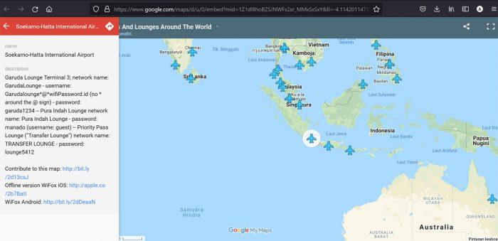 Google Maps Free WiFi Airport