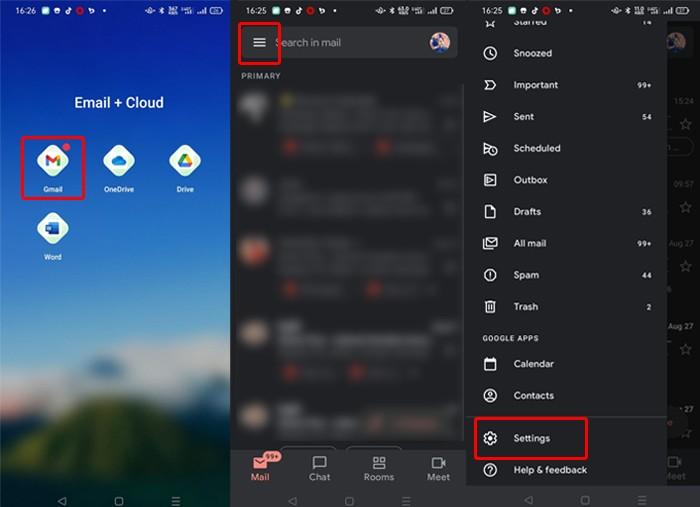Hilangkan Chat Aplikasi Gmail 1