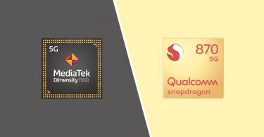 MediaTek Dimensity 1100 Vs Qualcomm Snapdragon 870 Header