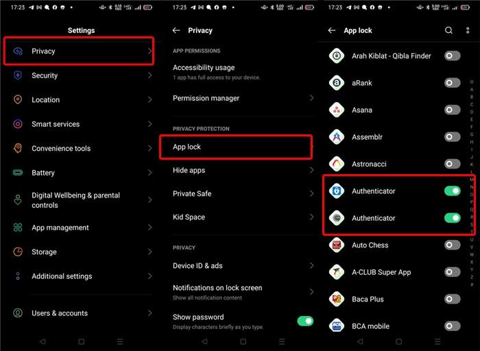 OPPO A16 App Lock