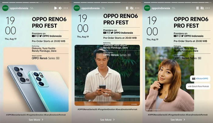 OPPO Reno6 Pro Fest InstaStory
