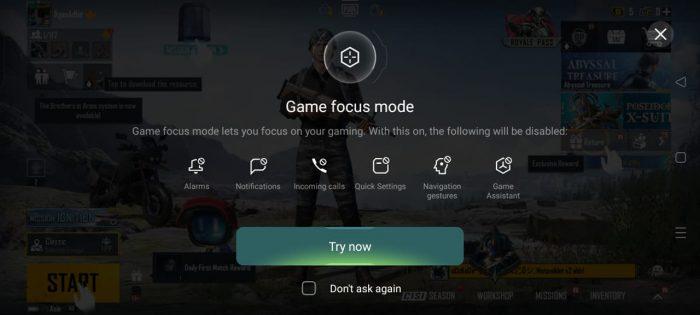 Reno6 Game Focus Mode