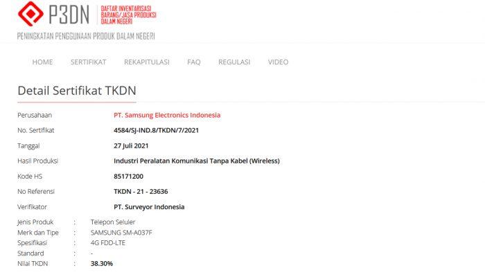 Samsung Galaxy A03s TKDN