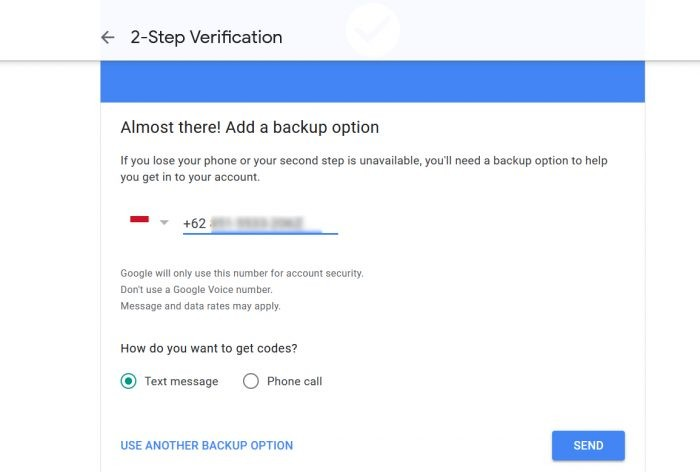 Verifikasi 2 Langkah Metode YouTube Nomor HP