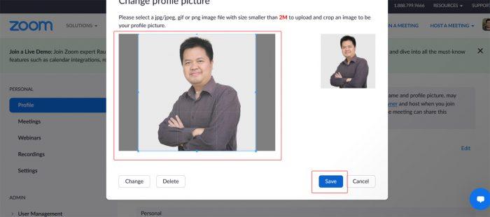 Zoom Change Name & Photo Part5