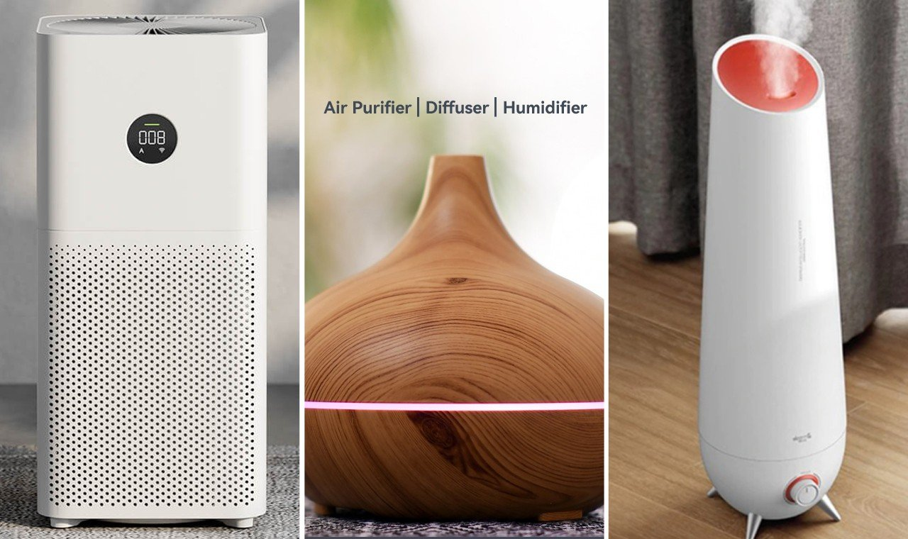 Perbedaan Air Purifier Diffuser Humidifier Feature
