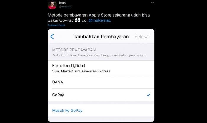 GoPay buat Apple App Store