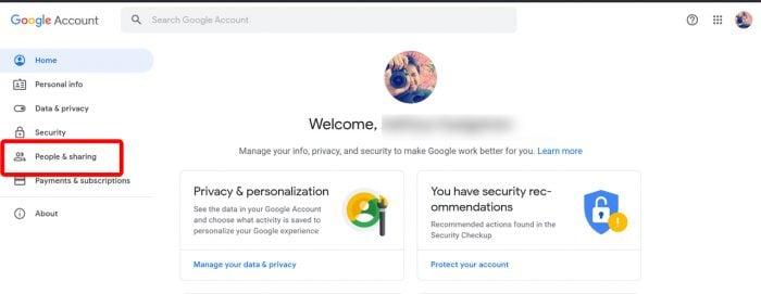 Google Account Contact 1