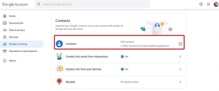 Google Account Contact 2
