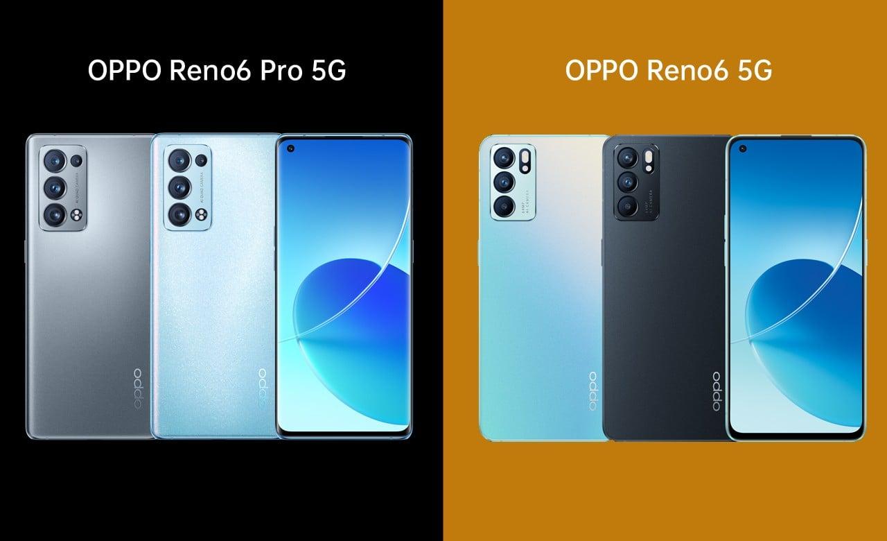 OPPO Reno6 Pro 5G vs Reno6 5G