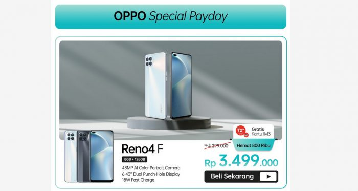 OPPO Special Payday Reno4 F