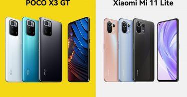 POCO X3 GT vs Xiaomi Mi 11 Lite