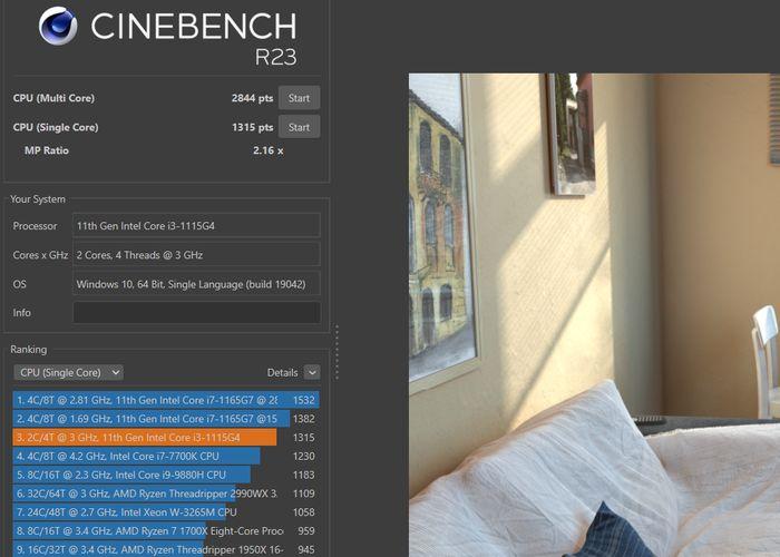 RedmiBook 15 - Cinebench