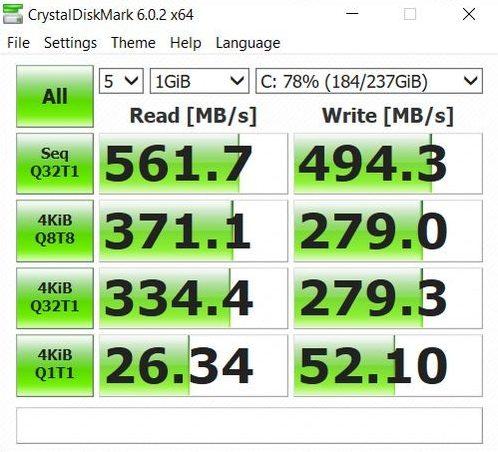 RedmiBook 15 - CrystalDiskMark