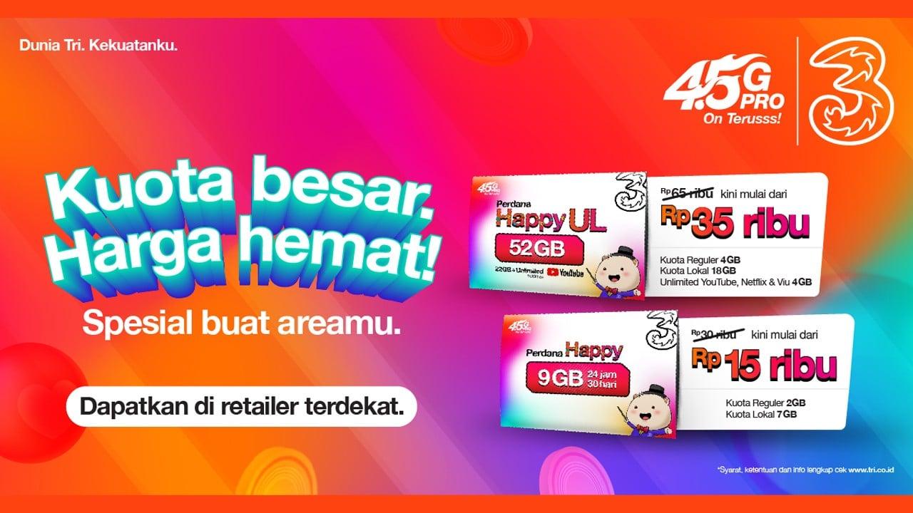 Tri Indonesia Perdana Happy