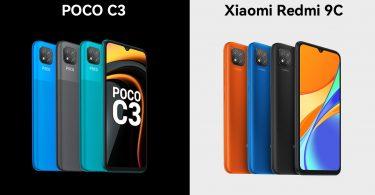 POCO C3 vs Xiaomi Redmi 9C